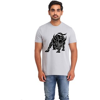 Snoby Angry bull cotton printed T-shirt (SBY16582)