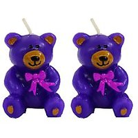 Wax Colorful Teddy Shaped Candle Diwali Gifts Set Of 2 - 99394095