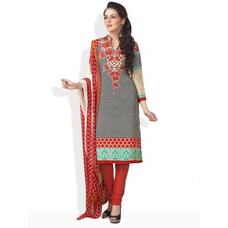 Tamanna Fashions Everyday Style Ready-To-Stitch Suit (Red)