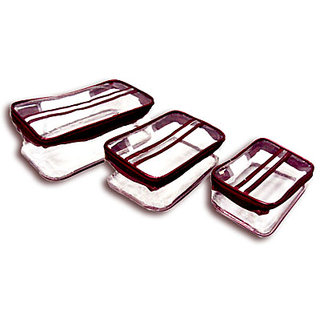 Box Vanity rectangular Shaped Plain transparent - M (3 pcs Set)