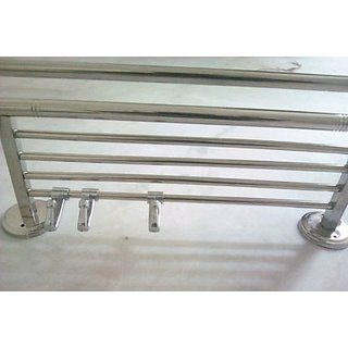 Towel Rod/Rack/Hanger High Stainless Steel Cloth Hanger 24inch 3hook for Cloth Hanger