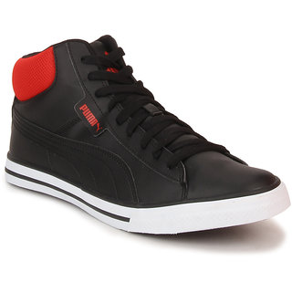 Puma Salz Mid Dp Men's Black Lace-up Casual Shoes