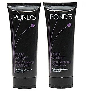 Ponds Pure White Deep Cleansing Facial Foam (Pack Of 2) 100 G