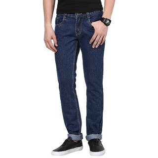 Masterly Weft Blue Regular Fit Jeans for Men