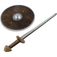 Magideal Medieval Viking Sword Shield Set Kids Fancy Dress Costume Accessory