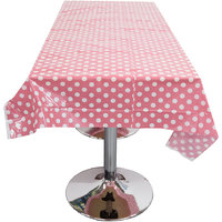 Magideal Plastic Disposable Polka Dot Table Cloth Wedding Party Decor Pink