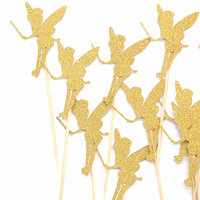 Magideal 20 Glitter Paper Angel Fairy Cake Topper Pick Wedding Party Favor Decor