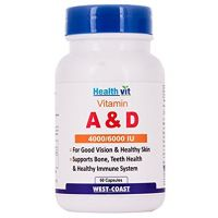 Healthvit Vitamin A  D 4000/6000 IU (60 Capsules)