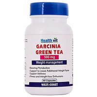 Healthvit Garcinia Cambogia + Green Tea 500mg Extract 60 Capsules