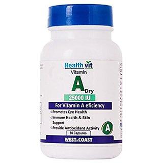 Healthvit Vitamin A Dry 25000 IU 60 Capsules