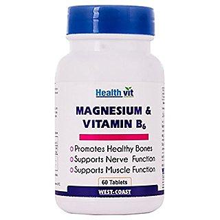 Healthvit Magnesium  Vitamin B6 60 Tablets