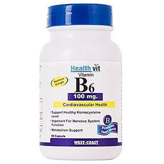 Healthvit Vitamin B6 100 Mg 60 Capsules