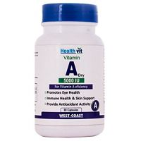 Healthvit Vitamin A Dry 5000 IU 60 Capsules