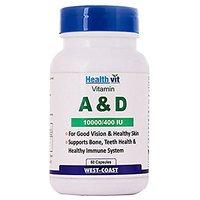 Healthvit Vitamin A  D 1000/400 IU (60 Capsules)