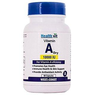 Healthvit Vitamin A Dry 10000 IU 60 Capsules