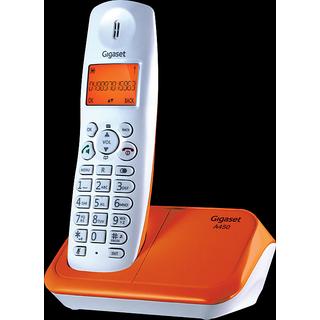 Gigaset A450 White orange cordless landline phone