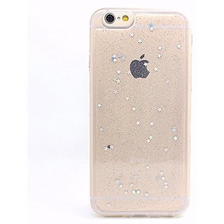 iPhone 6s Case,iPhone 6 Case,LUOLNH Spark Glitter Shine Diamond Star TPU Silicone Gel Soft Clear Case Silicone Skin Cover For iPhone 6/6s 4.7 inchClear)