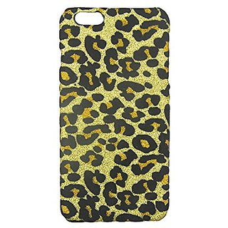 S&C Cute Luxury Leopard Bling Glitter Hard Back Case Cover Phone Case for iPhone 6 Plus 6S Plus (5.5