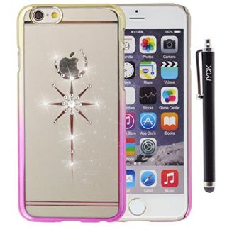 iPhone 6S Plus Case, iYCK Electroplated & Transparent [Apple Design] Crystal Diamond Rhinestone Hard Slim Snap On Shell Back Skin Case Cover for iPhone 6 / 6S Plus (5.5) - Magic Wand