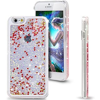 Shopping_Shop2000 Sparkly Bling Love Heart and Glitter Flowing Liquid Water Aqua Movable Dynamic Hard Cover Case For iphone 6 6s Plus (5.5