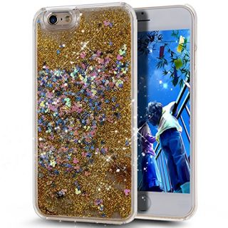 iPhone 6S Plus Case,NSSTAR iPhone 6S/6 Plus Liquid Case,Creative Design Flowing Liquid Floating Bling Glitter Sparkle Circular Stars Hard Case for Apple iPhone 6S Plus (2015)/ iPhone 6 Plus (2014)