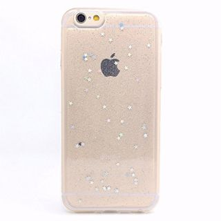 iPhone 6 Case, iPhone 6s Case, BAISRKE Spark Glitter Shine Diamond Star Clear Transparent Soft TPU Back Cover for iPhone 6 6S (Normal 4.7 inches) - Clear