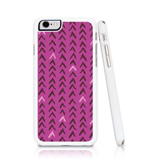 iPhone 6 Case Pink Chevron Abstract Geometric Design (Pink Purple Peach Red)