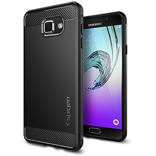 Galaxy A7 2016 Case, Spigen [Rugged Armor] Resilient [Black] Ultimate protection and rugged design with matte finish for Galaxy A7 (2016) - Black (SGP11840)