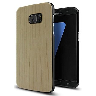 Galaxy S7 Case,Galaxy S7 Wooden Case YFWOOD Maple Wood with Plastic Slim Covering Case for Samsung Galaxy S7