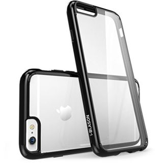 iPhone 6s Plus Case, [Scratch Resistant] i-Blason Clear Halo Series Apple iPhone 6 Plus Case 5.5 Inch Hybrid Cover (Clear/Black)