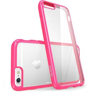 iPhone 6s Plus Case, [Scratch Resistant] i-Blason Clear Halo for Apple iPhone 6 Plus Case 5.5 Inch Hybrid Cover (Clear/Pink)