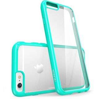 iPhone 6s Case, [Scratch Resistant] i-Blason Clear [Halo Series] Also Fit Apple iPhone 6 Case 6s 4.7 Inch Hybrid Bumper Case Cover (Clear/Green)