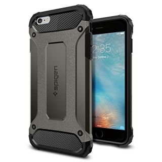 iPhone 6s Plus Case, Spigen [Tough Armor Tech] Ultimate Shock-Absorb [Gunmetal] Dual Layer Ultimate Rugged Protection Case for iPhone 6s Plus (2015) - Gunmetal (SGP11746)