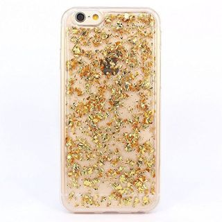 iPhone 6 Case, iPhone 6s Case, BAISRKE Spark Glitter Shine Big Diamond Star Clear Transparent Soft Thickening TPU Back Cover for Apple iPhone 6 6S (4.7 inches) -Gold