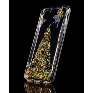 iPhone 6s plus clear case,FLYEE Transparent Glitter Luxury Bling Sparkle Soft TPU Scratch Resistant Bumper Case Cover for Apple iPhone 6s plus(2015)/ iPhone 6 plus(2014) 5.5 inch (sahua gold)