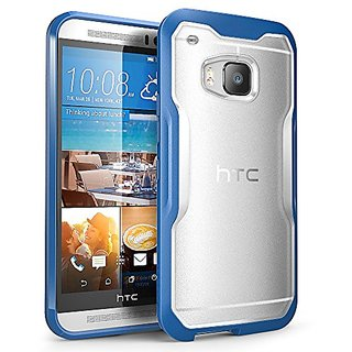 HTC One M9 Case, SUPCASE Unicorn Beetle Series Premium Hybrid Protective Clear Case for HTC One M9 , Retail Package (Frost Clear/Blue)