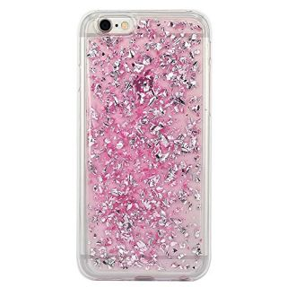 iPhone 6 Case, iPhone 6s Case, BAISRKE Spark Glitter Shine Big Diamond Star Clear Transparent Soft Thickening TPU Back Cover for Apple iPhone 6 6S (4.7 inches) - Bright Pink