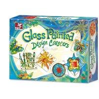 Toy Kraft Glass Painting Designer Coasters