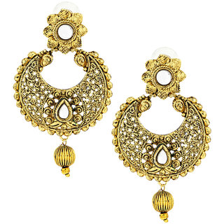 The Jewelbox Gold Brass & Copper Gold Plated Earring For Women