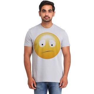 Snoby Confused Smiley printed t-shirt (SBY16715)