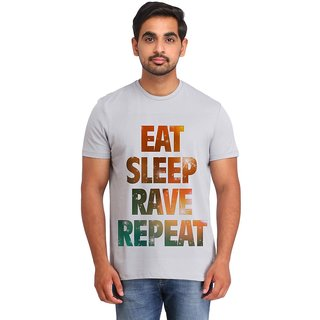 Snoby EAT SLEEP RAVE REPEAT printed t-shirt (SBY16638)
