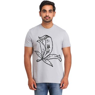 Snoby Long leaf printed t-shirt (SBY16813)