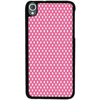 Ayaashii Pink Circle Pattern Back Case Cover for HTC Desire 820::HTC Desire 820Q::HTC Desire 820S