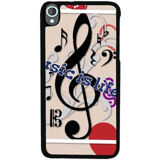 Ayaashii Music Is Life Back Case Cover for HTC Desire 820::HTC Desire 820Q::HTC Desire 820S