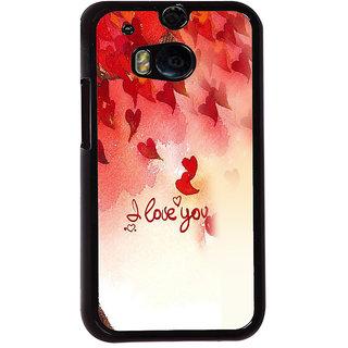 Ayaashii I Love U Pattern Back Case Cover for HTC One M8::HTC M8