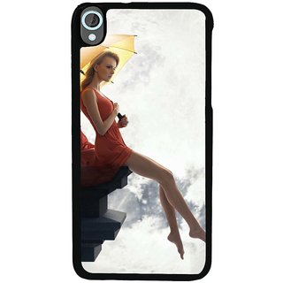 Ayaashii Girl In Front Of Moon Back Case Cover for HTC Desire 820::HTC Desire 820Q::HTC Desire 820S