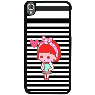 Ayaashii Lovely Girl Back Case Cover for HTC Desire 820::HTC Desire 820Q::HTC Desire 820S