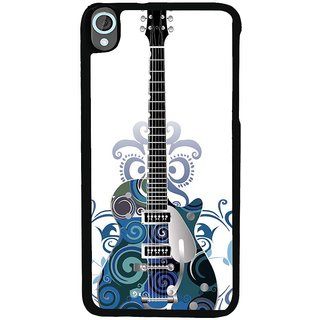 Ayaashii Blue Color Designed Guitar Back Case Cover for HTC Desire 820::HTC Desire 820Q::HTC Desire 820S