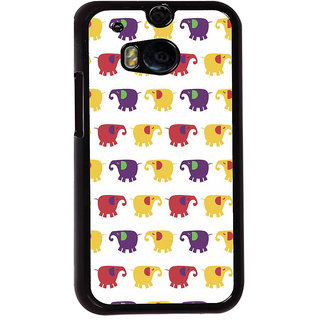 Ayaashii Elephant Pattern Back Case Cover for HTC One M8::HTC M8
