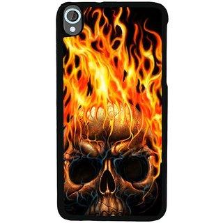 Ayaashii Burning Skul Back Case Cover for HTC Desire 820::HTC Desire 820Q::HTC Desire 820S